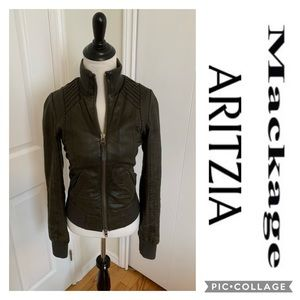 MACKAGE Aritzia Leather Jerry Bomber Jacket Coat